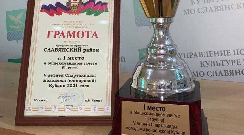 Сборная Славянского района выиграла V летнюю Спартакиаду молодежи Кубани
