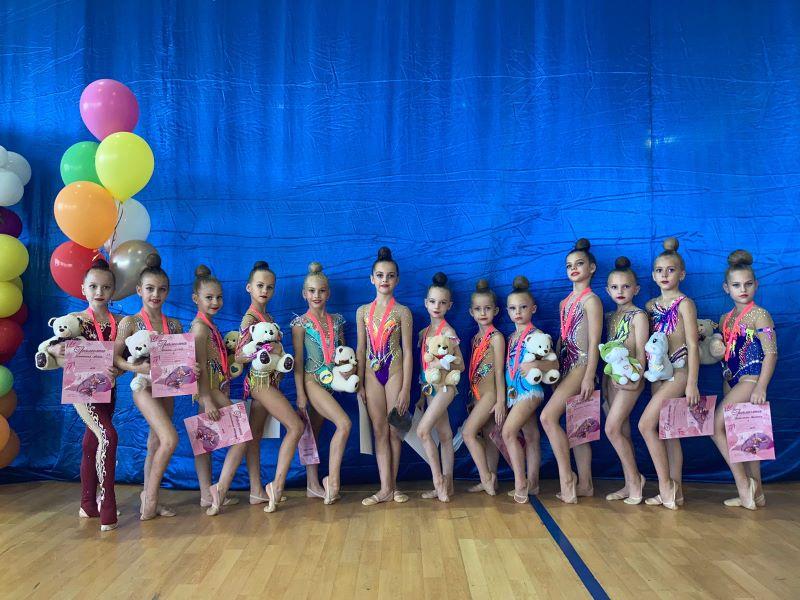 Ейские гимнастки выиграли открытое первенство Курганинского района