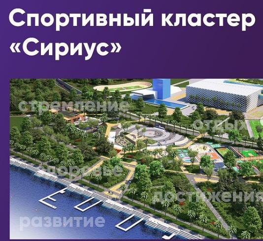 На олимпийских объектах в Сочи появится спортивный кластер с пропускной способностью более 500 тыс. человек в год